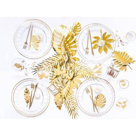 Décorations Aloha - Feuilles tropicales dorées