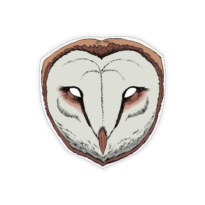 Masque Enfant Hibou, 22 x 23 cm