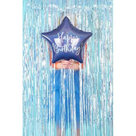 Ballon en feuille Happy Birthday, 40cm, bleu marine