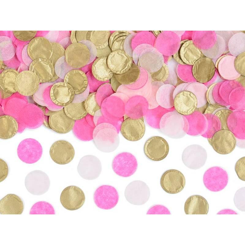 Cercles de confetti, mélange, 3g