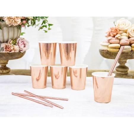Gobelets en papier or rose 220ml