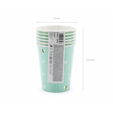 Gobelets en papier Cactus mélange 220ml