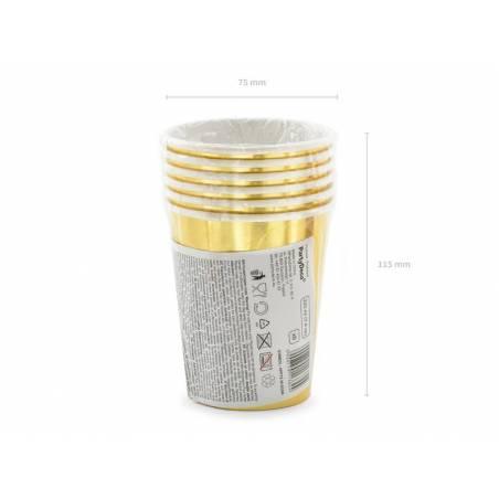 Gobelets en papier 30th Birthday gold 220ml