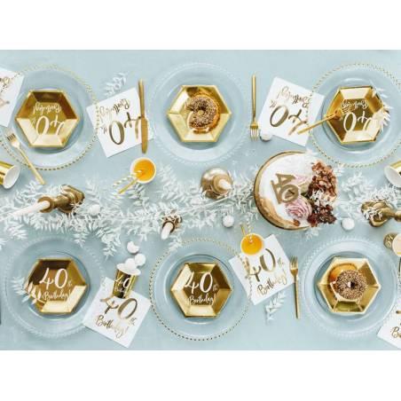 Gobelets en papier 40e anniversaire or 220ml