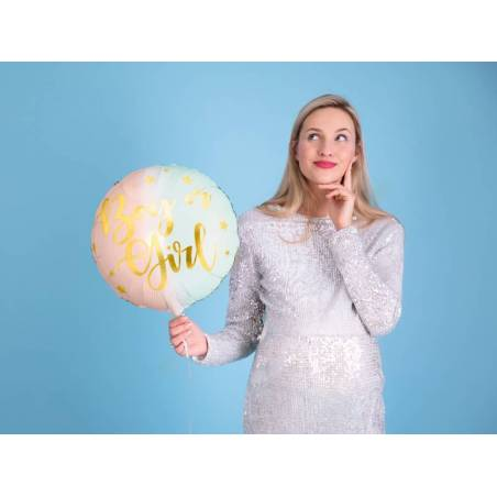Ballon en feuille Garçon ou Fille, 35cm, mélange