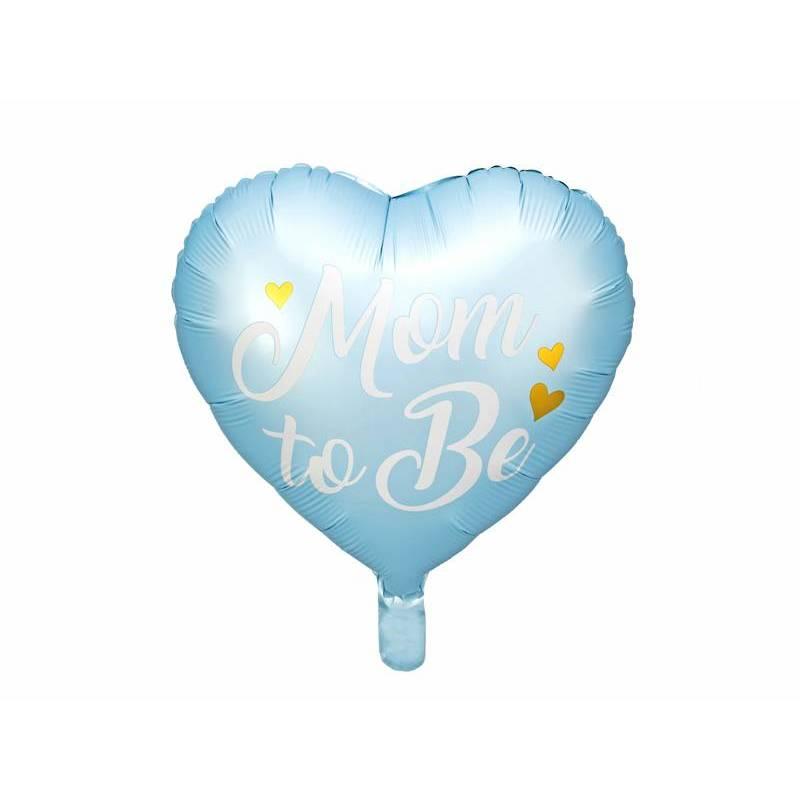 Ballon en feuille Mom to Be, 35cm, bleu