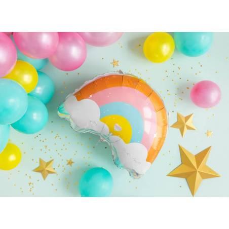 Ballon en feuille Arc-en-ciel, 55x40cm, mélange