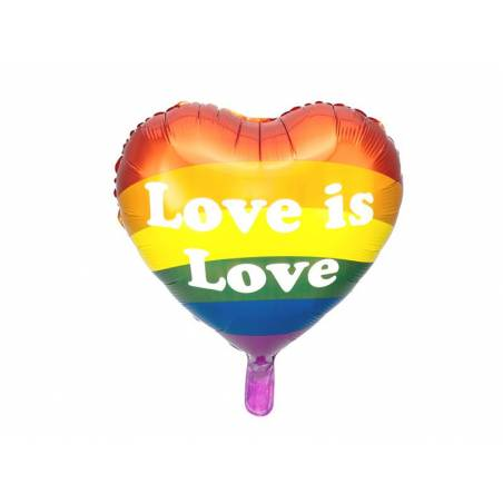 Ballon en feuille Love is Love, 35cm, mélange