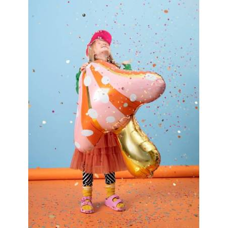 Ballon en feuille Mushroom, 66x75cm, mélange