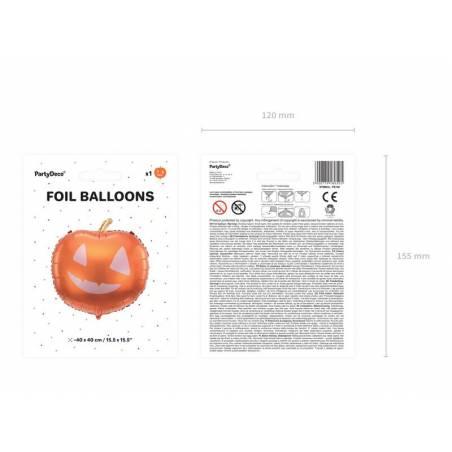 Ballon en aluminium Citrouille, 40x40cm, mélange