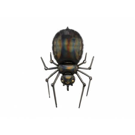 Ballon en feuille Spider, 60x101cm, noir
