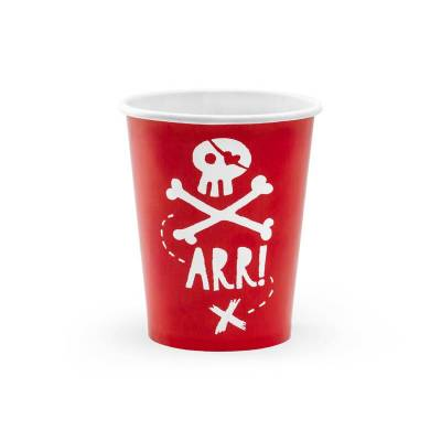 Gobelets Pirates Party rouge 220ml