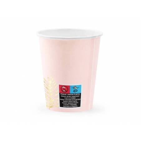 Coupes Feuilles rose clair 220ml