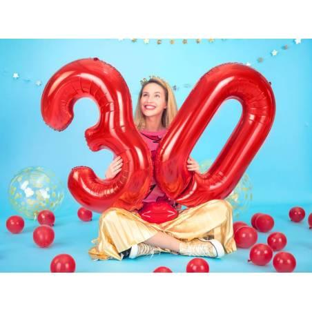 Ballon en feuille Numéro ''1'', 86cm, rouge