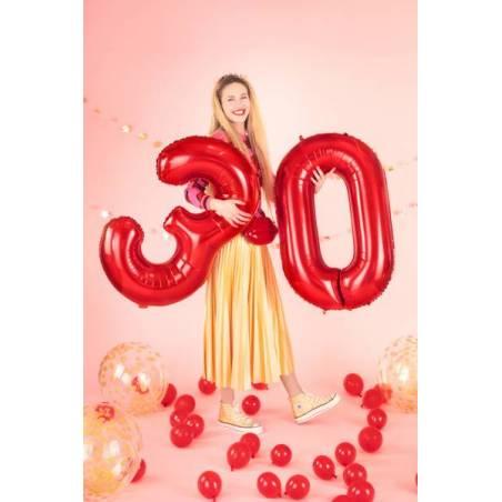 Ballon en feuille Numéro ''5'', 86cm, rouge