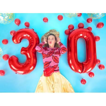 Ballon en feuille Numéro ''7'', 86cm, rouge