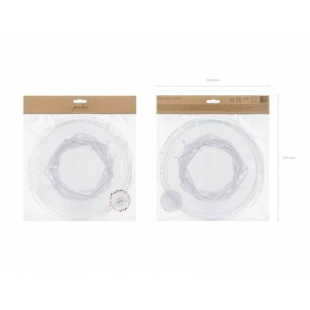 Pochettes en organza blanches 25cm