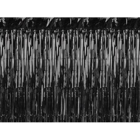 Rideau de fête, noir, 90x250cm