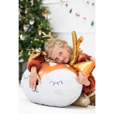 Ballon en feuille Cerf, 73x64cm, mélange