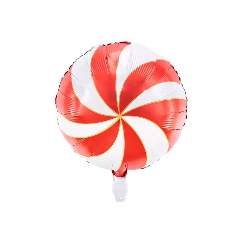Ballon en feuille Candy, 35cm, rouge