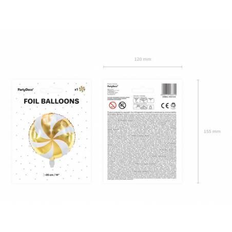 Ballon en feuille Candy, 35cm, or