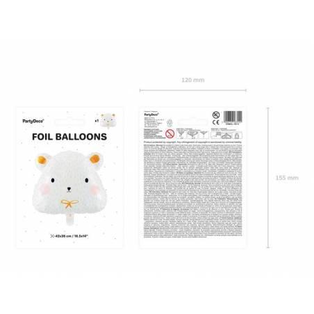 Ballon en feuille Ours polaire, 51x45cm, mélange