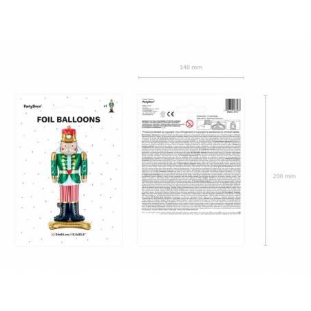 Ballon debout en aluminium Casse-Noisette, 34x85cm, mélange