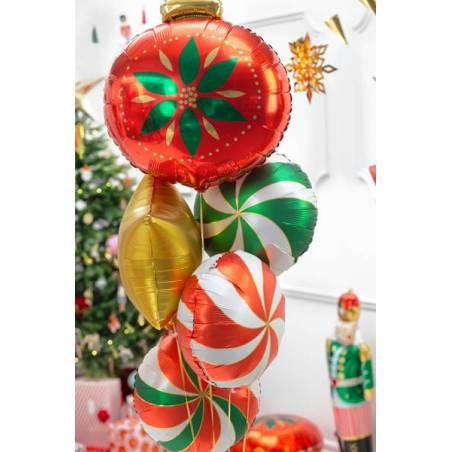 Ballon de Noël en feuille, 45x45cm, mélange