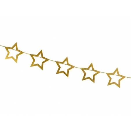 Guirlande étoiles, or, 3m