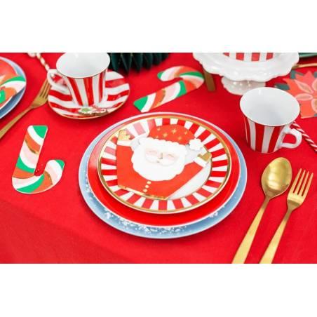 Serviettes de table Père Noël mélange 16x15cm