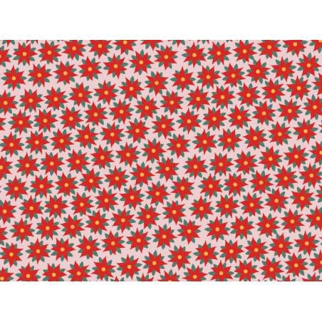 Papier d'emballage - Étoile rouge de Bethléem, 70x200cm