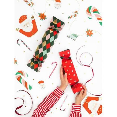 Etiquettes cadeaux Père Noël mix