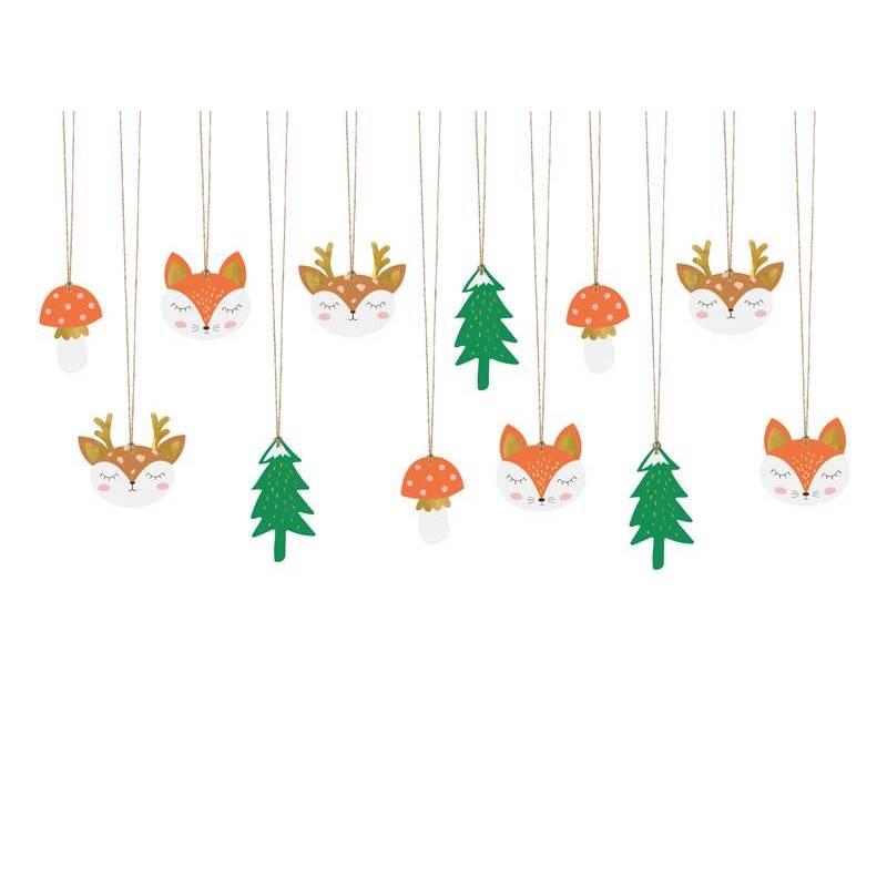 Etiquettes cadeaux Forest mix