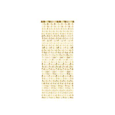 Toile de fond - Arbres de Noël, or, 100x245cm