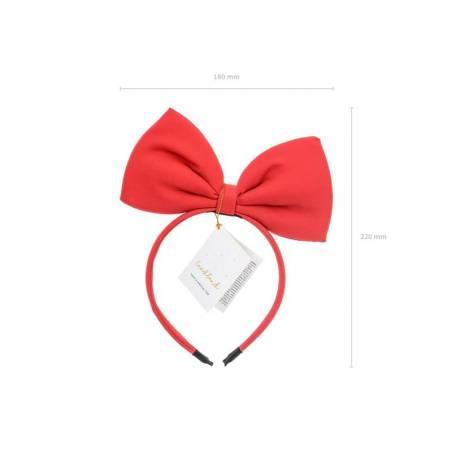 Serre-tête Bow, rouge, 18x21cm