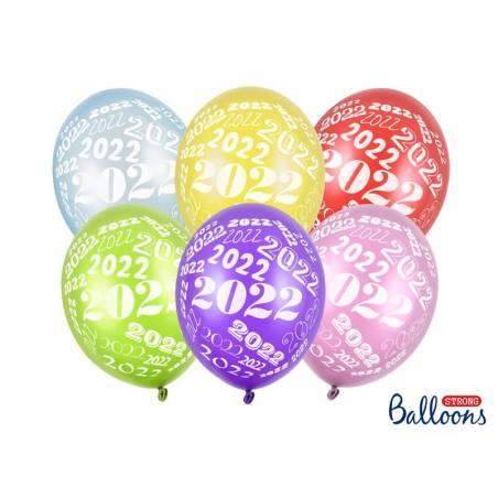 Ballons 30cm 2022 mélange métallique