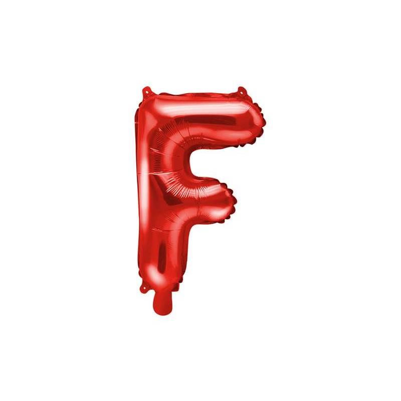 Ballon en aluminium Lettre ''F'', 35cm, rouge