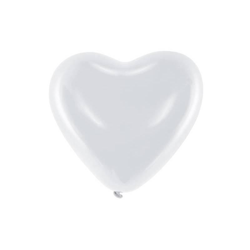Ballons 10 '' Coeurs blanc pastel