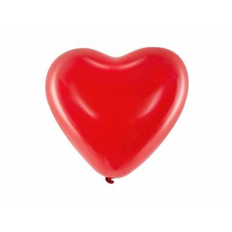 Ballons 10 '' Coeurs rouge pastel