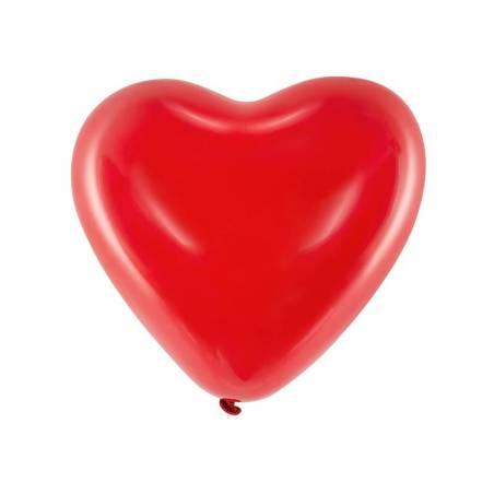 Ballons 16 '' Coeurs rouge pastel