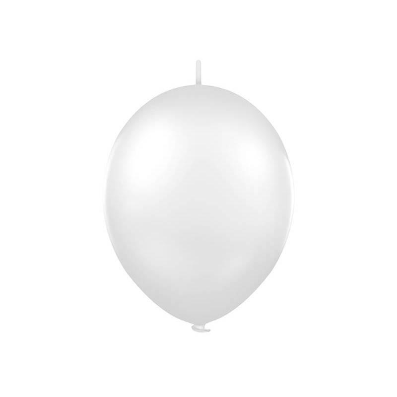 Ballon de liaison 12 '' blanc pastel