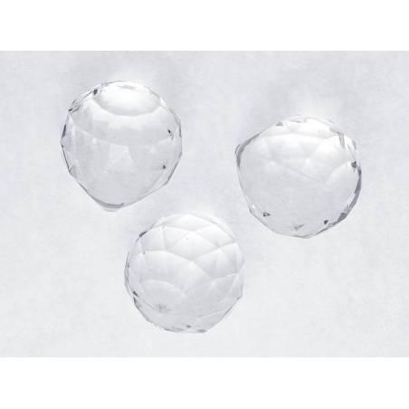 Pendentifs Sphères incolores 35 x 41mm