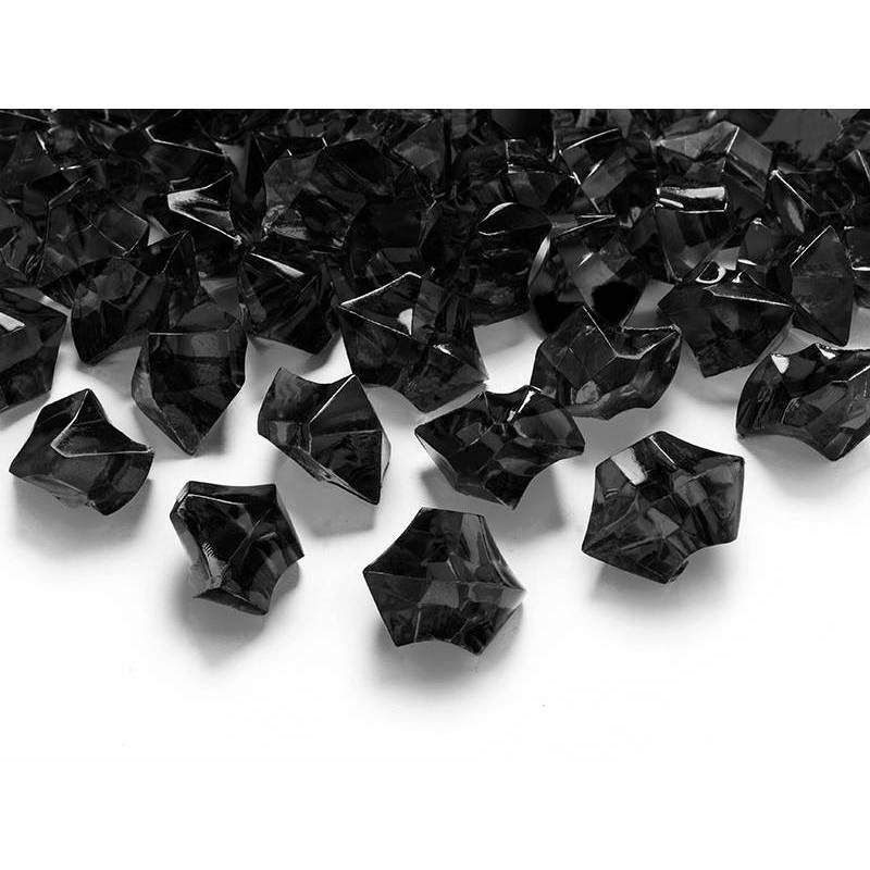 Cristal de glace noir 25 x 21mm