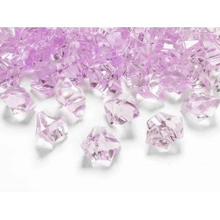 Cristal de glace rose 25 x 21mm