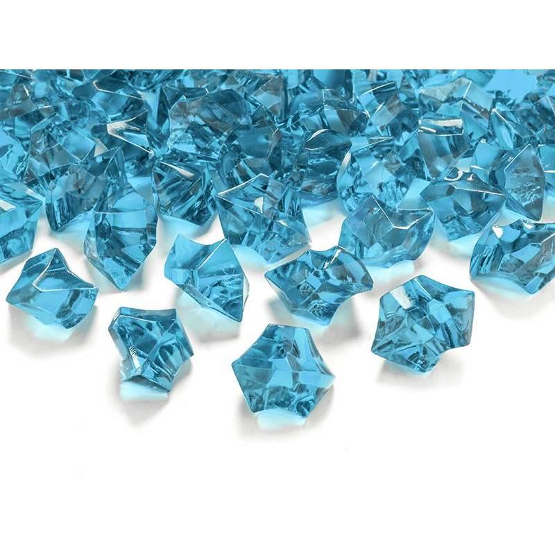 Glace en cristal turquoise 25 x 21mm