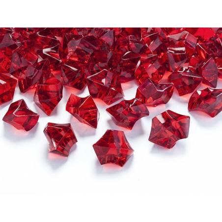 Cristal de glace vin rouge 25 x 21mm