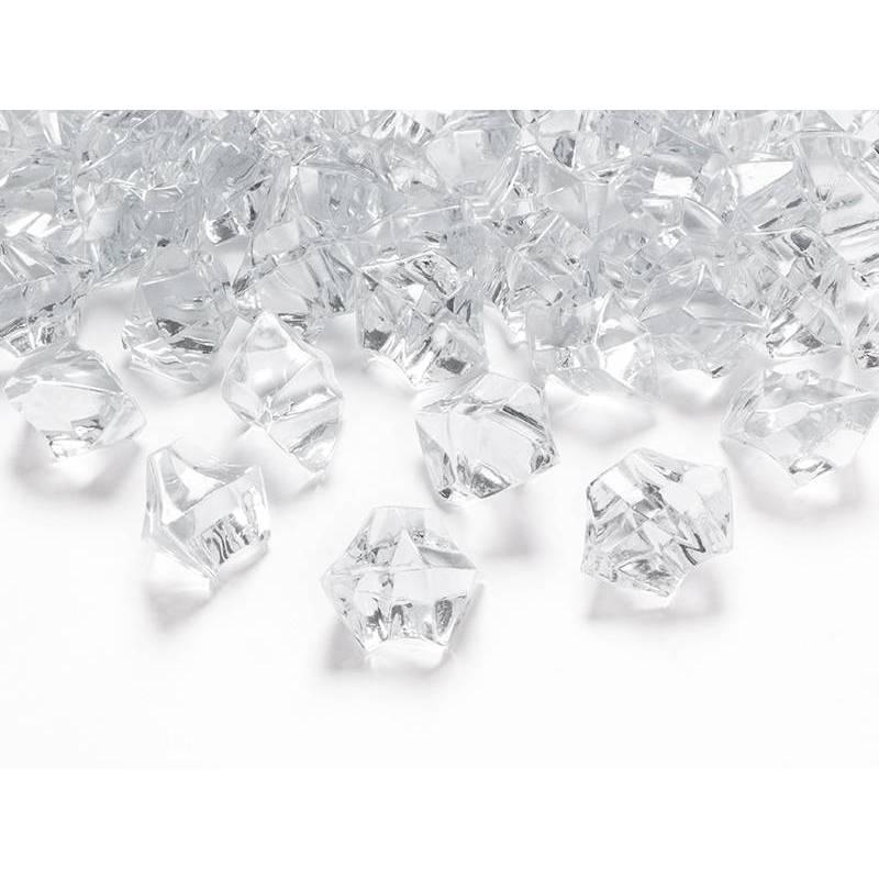 Cristal de glace incolore 25 x 21mm