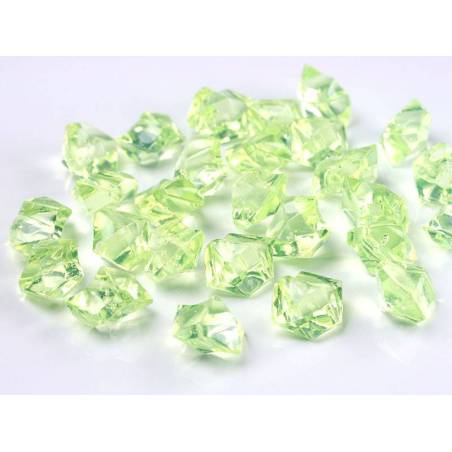 Cristal de glace vert clair 25 x 21mm
