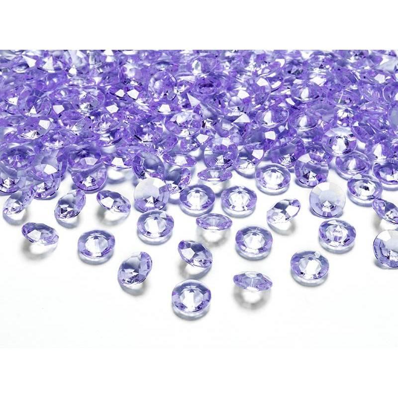 Confettis de diamants lilas 12mm