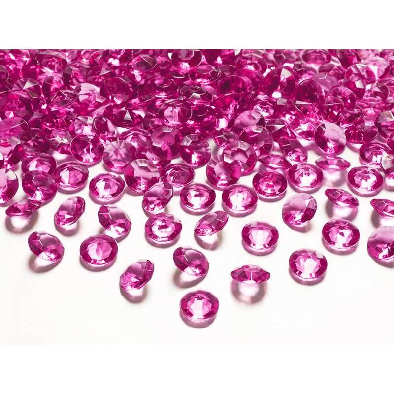 Confettis de diamants rose foncé 12 mm